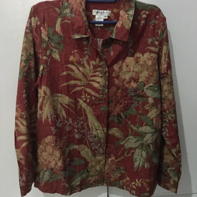 Preloved Printed Long Sleeves / Blazer