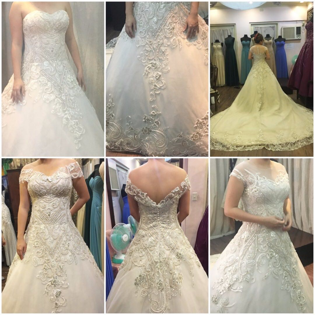 Preloved Wedding Gown with 3 looks
