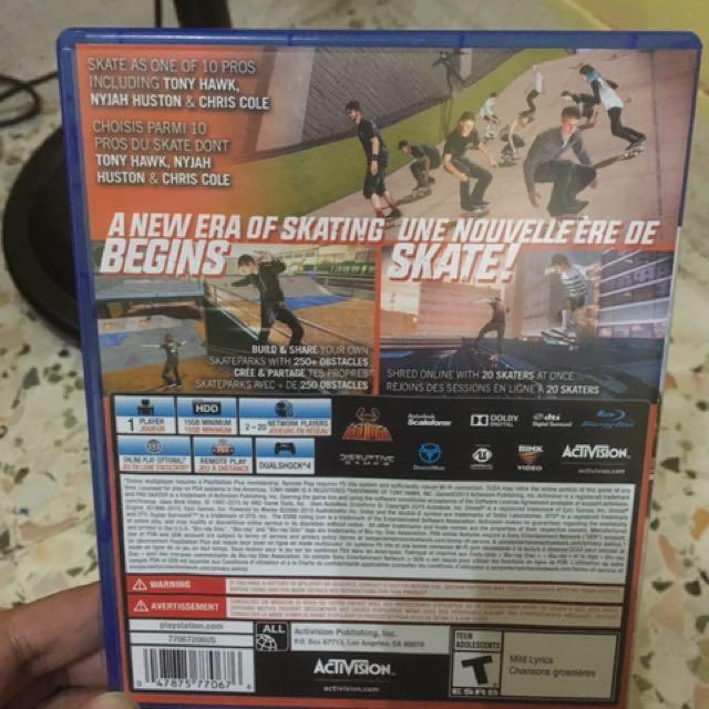 PS4 TONY HAWK PRO SKATER 5, Toys & Games, Video Gaming