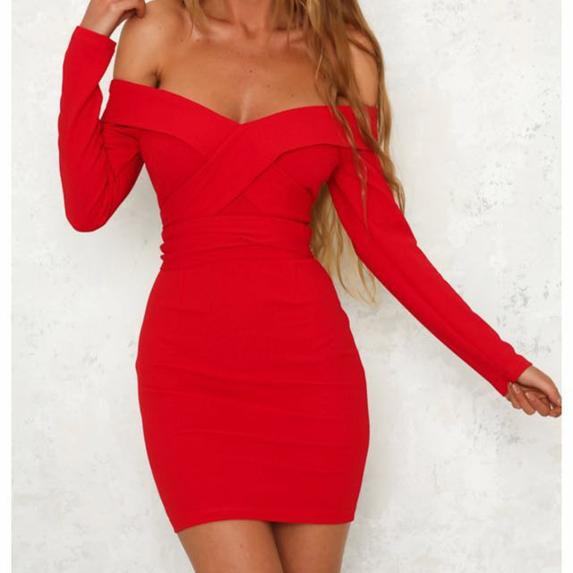 Red Size L (12) Dress