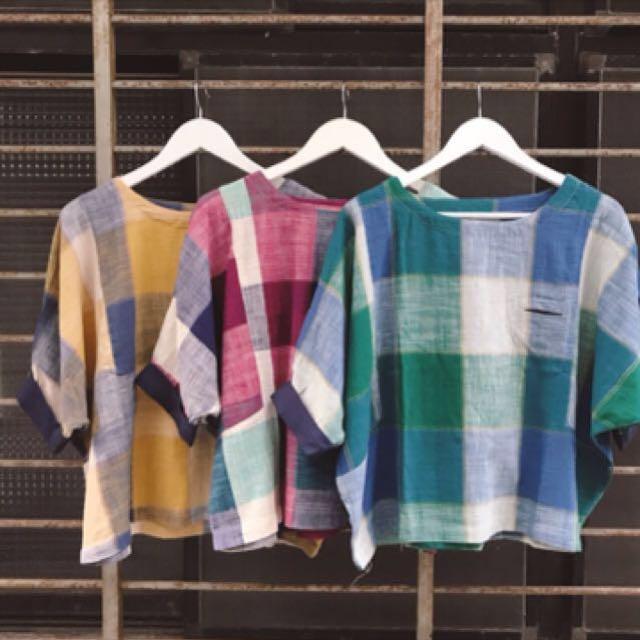 🎈日系棉麻上衣🎈反折飛鼠寬袖小口袋sala的店買的