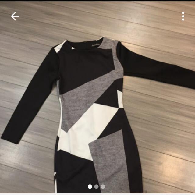 Something Borrowed Monochrome Dress Ori