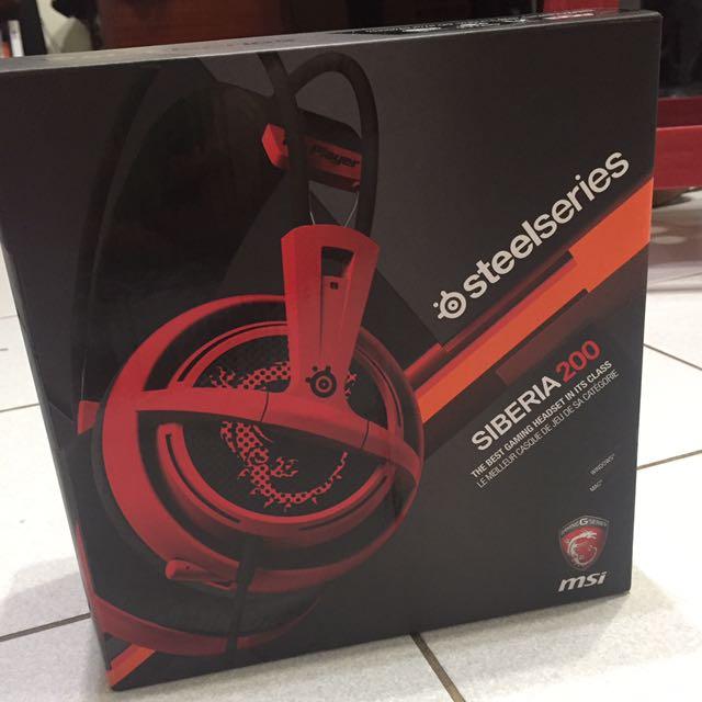 SteelSeries 賽睿 西伯利亞Siberia 200 電競耳麥 電競 耳機 耳麥 (紅色)