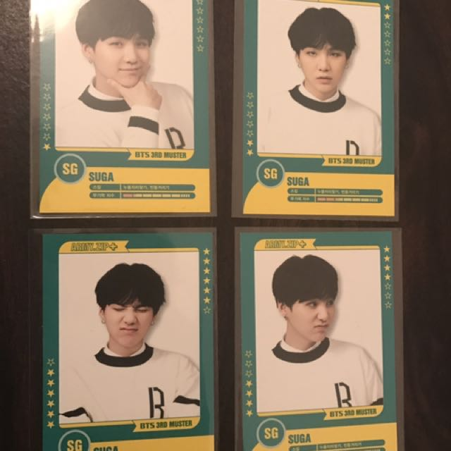 Suga player Muster cards BTS