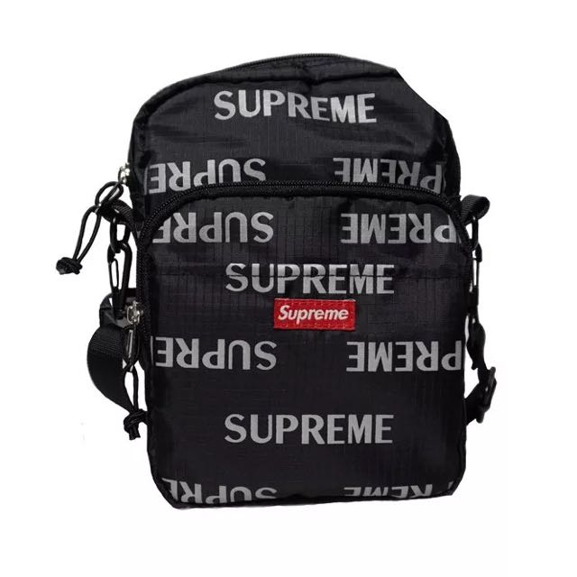 Supreme Fw16 3m Reflective Repeat Shoulder Bag Men S Fashion Bags Wallets Sling On Carou