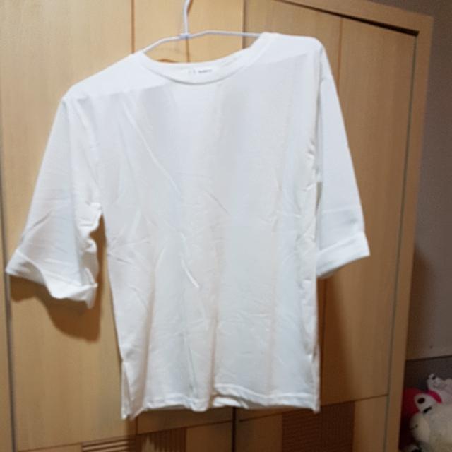 純色五分袖下擺開衩T恤#手滑買太多