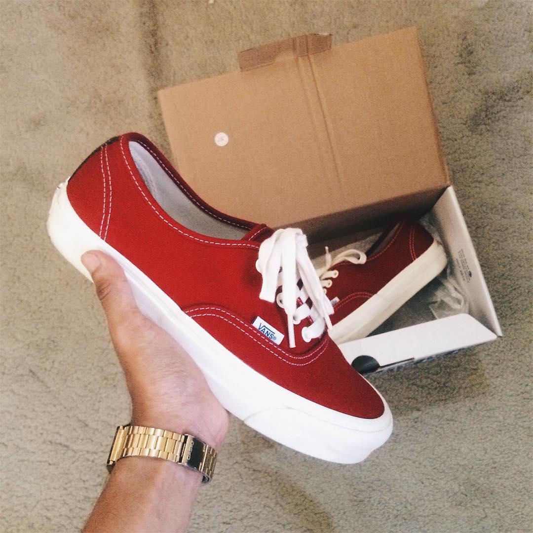 plus récent 7332a 81264 Vans Vault OG Authentic LX Red, Men's Fashion, Footwear on ...