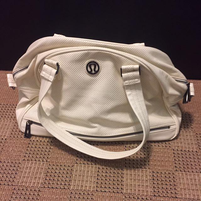 White Lululemon Bag