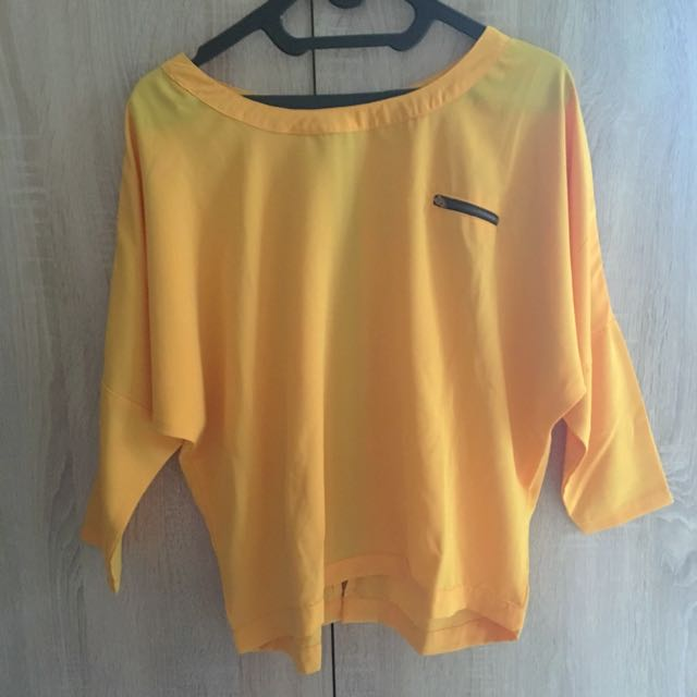 Yellow Casual Blouse