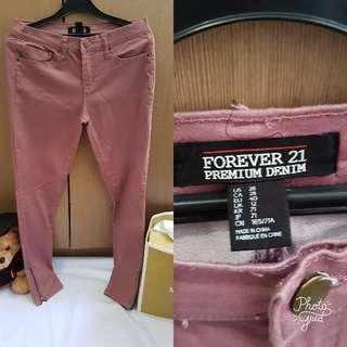 Forever 21 Celana Panjang Warna Pink