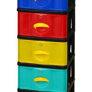 lemari Laci plastik 5 susun stockcase napolly