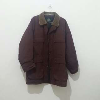 Corduroy-Collar Cotton Jacket