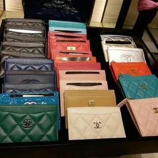 歐洲代購名牌 香港門市取 連收據 ---Chanel Wallet/cardholder/coinsbag