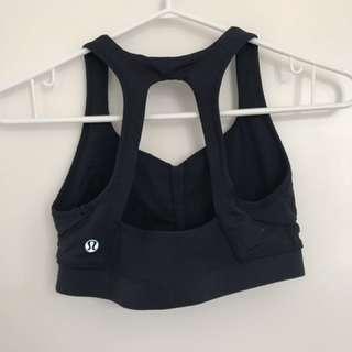 Navy lululemon sports bra