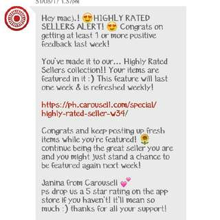 HIGHLY RATED SELLER AGAIN!! 😊🙏 Thankyou!