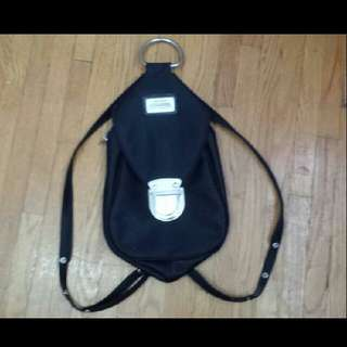 Black Backpack/crossbag