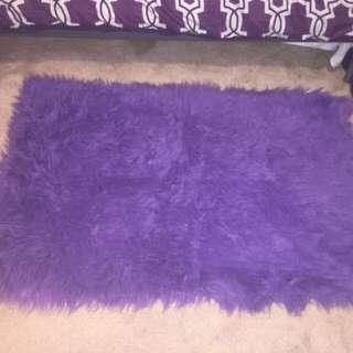 Purple fur carpet