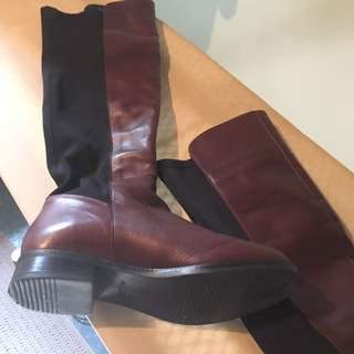 Burgundy Long H&m Boots