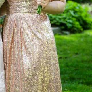 Rose Gold Bridesmaid Dress/ Prom Dress