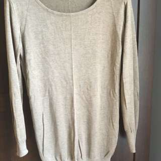 Beige Large Sweater