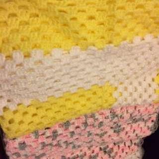 Hand Made Baby Blankets Small / Medium