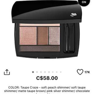 Lancome brand new eyeshadow palette