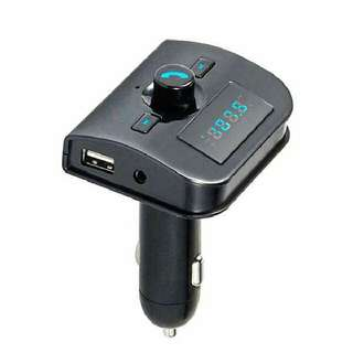 Bluetooth Car Kit Handsfree FM Transmitter Radio MP3 Player USB Charger SD TF MMC USB Charger