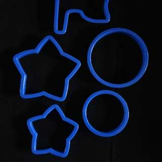 Cookie, Dough and Fondant Cutters (stars And Circles Design)