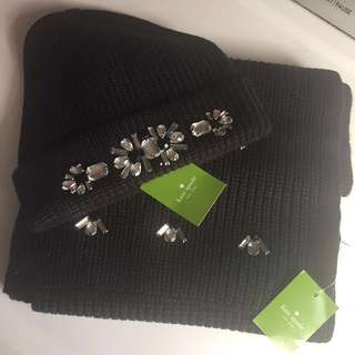Kate Spade Scarf and Hat Set