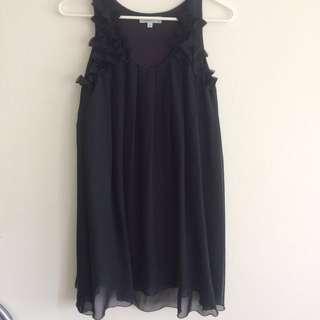 TEMT Chiffon navy Dress Size 12