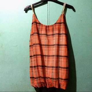 Checkered Sleeveless