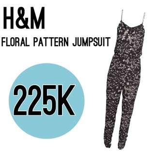 H&M Floral Pattern Jumpsuit