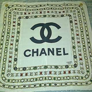 80s Vintage Chanel Printed Scarf