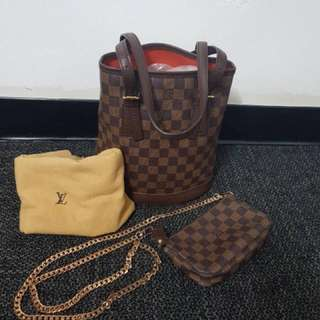 Louis Vuitton Marais Bucket Bag and Mini Pochette
