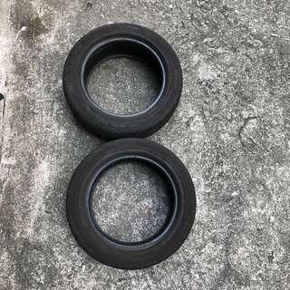中古Dunlop 車呔一對(195/55R15)