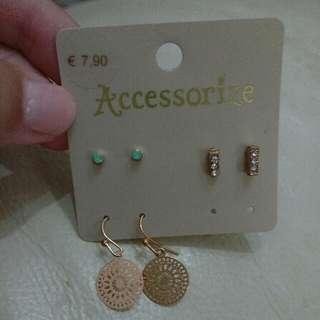 Accessorize earring set 耳環套裝 (包平郵)