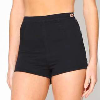 Neuw black daisy shorts. Never worn. Tags attached.
