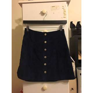 PARE-basic blue cord skirt