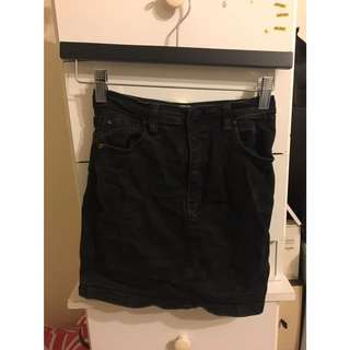 wakee denim black skirt