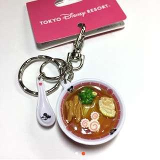 東京 迪士尼 米奇 拉麵 吊飾 鑰匙圈 醬油拉麵