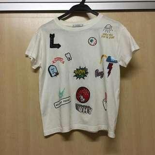 Pull & Bear patch shirt