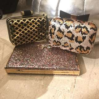 Bling clutch bags
