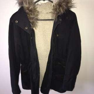 Furry jacket (size 8-10)