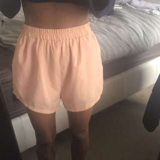 Sabo skirt peach shorts (size small)