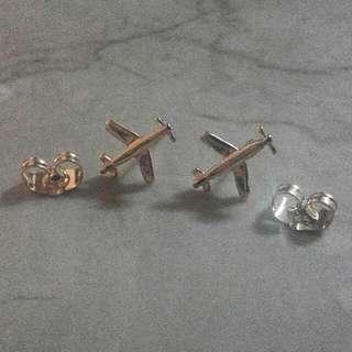 airplane earrings
