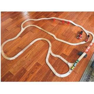 湯瑪士小火車軌道組 木頭軌道 拼圖
