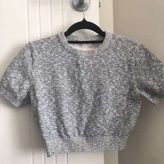 High Neck Knitted Crop