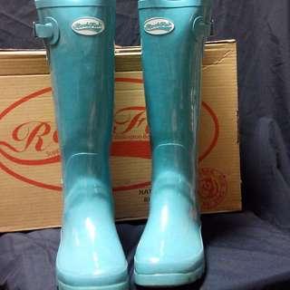 英國ROCKFISH 天空藍雨靴
