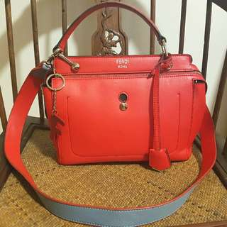 ⚠✔PRICE REDUCTION✔⚠ Fendi Borsa Dot Com Red Leather Handbag
