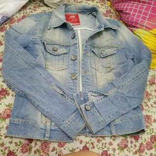 Blue Denim Jacket Authentic Logo
